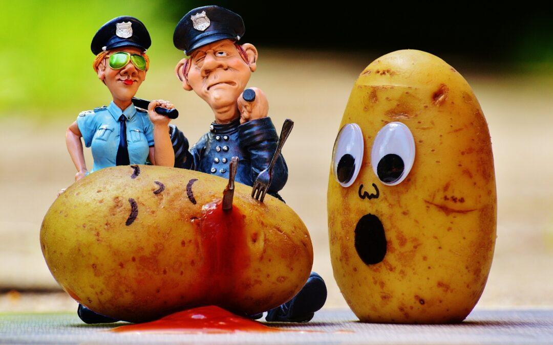Politie voert strijd tegen aardappels in kunst
